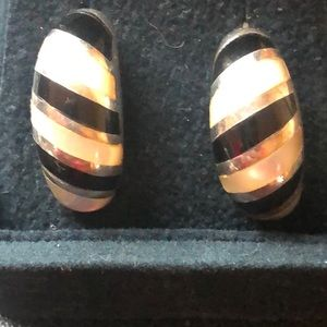 Jewelry - Sterling Silver, Black onyx and mother of pearl